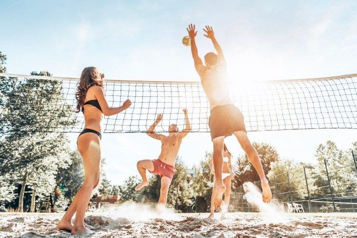 Benefits of playing beach volleyball